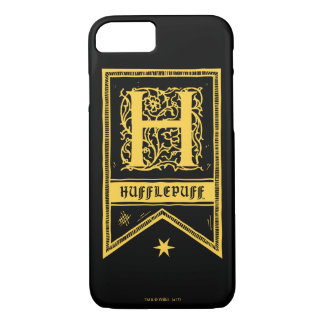 Monogramm-Fahne Harry Potters | Hufflepuff iPhone 8/7 Hülle