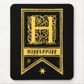 Monogramm-Fahne Harry Potters   Hufflepuff Mauspads