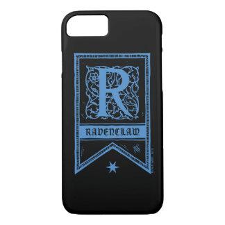 Monogramm-Fahne Harry Potters   Ravenclaw iPhone 8/7 Hülle