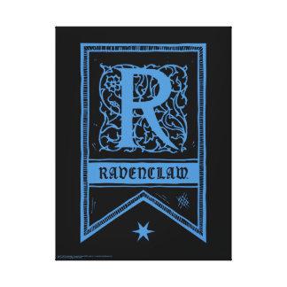 Monogramm-Fahne Harry Potters | Ravenclaw Leinwanddruck