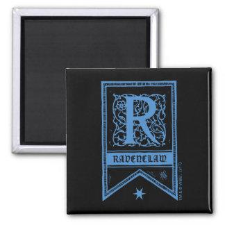 Monogramm-Fahne Harry Potters | Ravenclaw Quadratischer Magnet