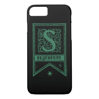Monogramm-Fahne Harry Potters | Slytherin iPhone 8/7 Hülle
