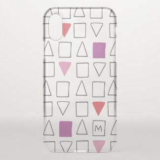 Monogramm. Geometrisches Muster iPhone X Hülle