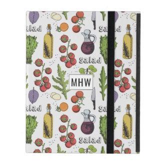 Monogramm-Gerät-Hüllen des Salat-Musters Etui Fürs iPad