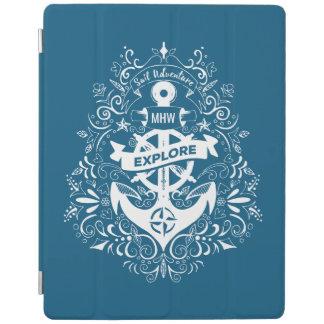 Monogramm-Gerätabdeckungen des dekorativen Ankers iPad Smart Cover