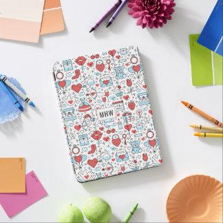 Monogramm-Gerätabdeckungen des Valentinstags iPad Air Cover