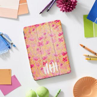 Monogramm Girly rosa iPad Mit Blumenfall iPad Pro Cover