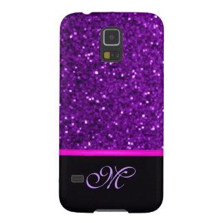 Monogramm-Girly Schein-Glitter-niedliches rosa Samsung S5 Cover