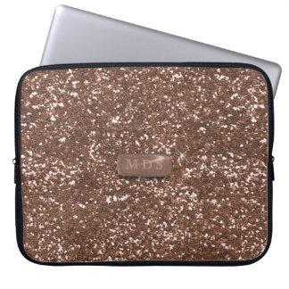 Monogramm-Glitter-Laptop-Hülse des