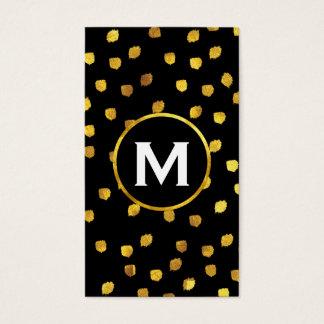 Monogramm/Gold Visitenkarte