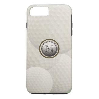 Monogramm-Golfball iPhone 7 Fall iPhone 8 Plus/7 Plus Hülle