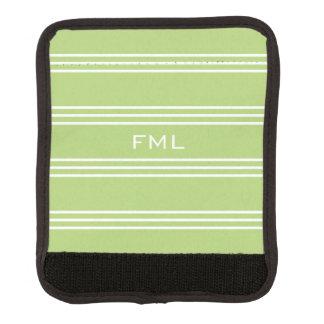 Monogramm-Griffverpackung der Limonen grünen Gepäckgriff Marker
