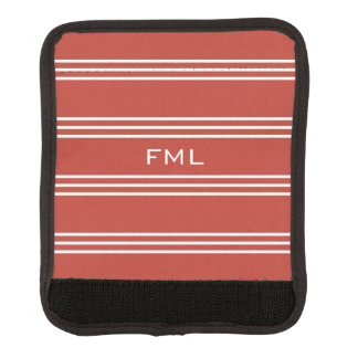 Monogramm-Griffverpackung der Tomate-roten Gepäckgriff Marker