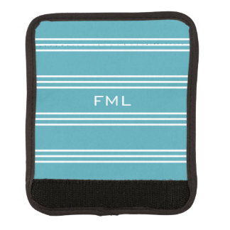 Monogramm-Griffverpackung der Türkis-Streifen Gepäckgriff Marker