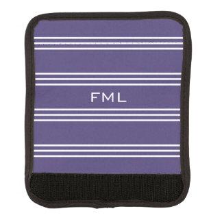 Monogramm-Griffverpackung der violetten Streifen Koffergriffwickel
