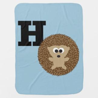 Monogramm H ist für Igel Babydecke