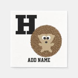 Monogramm H ist für Igel Papierserviette