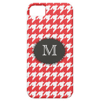 Monogramm-Hahnentrittmuster iPhone 5 Fall Etui Fürs iPhone 5