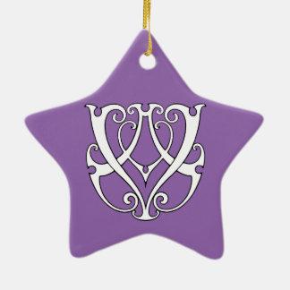 Monogramm Handels/VA Keramik Stern-Ornament