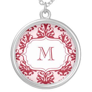 Monogramm-hängender Initialen-Halsketten-Rot-Damas