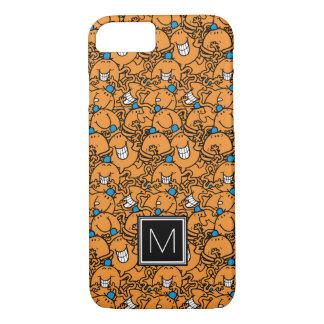 Monogramm HerrTickle   orange des Tickle-Muster-  iPhone 8/7 Hülle