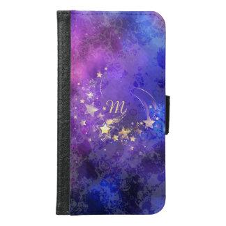 Monogramm-himmlischer Stern-Kasten Samsung Galaxy S6 Geldbeutel Hülle