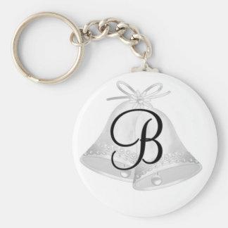 Monogramm-Hochzeits-Bell-Schlüsselkette Schlüsselanhänger
