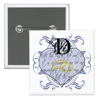 Monogramm-Hochzeits-Einladungen u. Geschenke Buttons