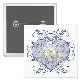 Monogramm-Hochzeits-Einladungen u. Geschenke Button
