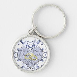 Monogramm-Hochzeits-Einladungen u. Geschenke Schlüsselanhänger