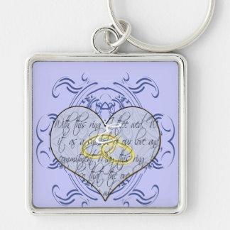 Monogramm-Hochzeits-Einladungen u. Geschenke Schlüsselbänder