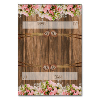 Monogramm-Hochzeits-Herzen mit der rosa Rose mit Karte