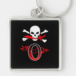 Monogramm-Initiale der Piratenflagge-O Schlüsselanhänger