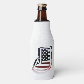 Monogramm-Initiale des Buchstabe-J patriotische Flaschenkühler