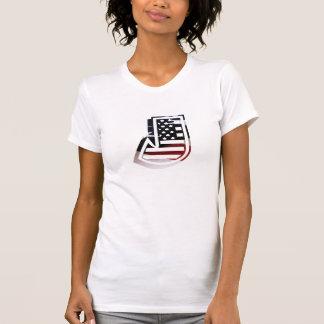 Monogramm-Initiale des Buchstabe-J patriotische T-Shirt