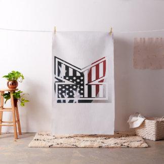 Monogramm-Initiale des Buchstabe-K patriotische Stoff