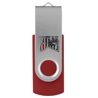 Monogramm-Initiale des Buchstabe-K patriotische USB Stick