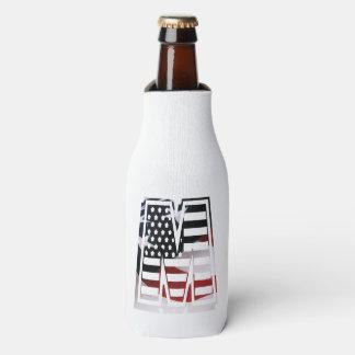 Monogramm-Initiale des Buchstabe-M patriotische Flaschenkühler