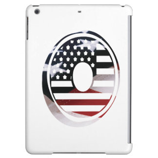 Monogramm-Initiale des Buchstabe-O patriotische