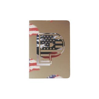 Monogramm-Initiale des Buchstabe-P patriotische Passhülle