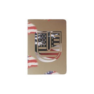 Monogramm-Initiale des Buchstabe-U patriotische Passhülle
