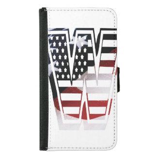 Monogramm-Initiale des Buchstabe-W patriotische Geldbeutel Hülle Für Das Samsung Galaxy S5