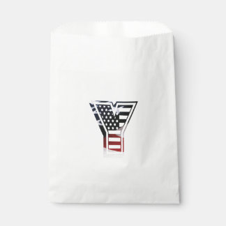 Monogramm-Initiale des Buchstabe-Y patriotische Geschenktütchen