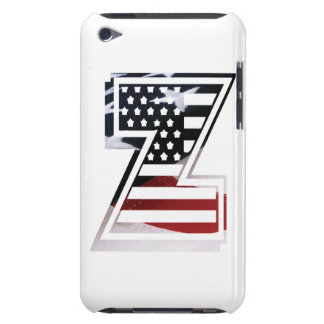 Monogramm-Initiale des Buchstabe-Z patriotische Barely There iPod Cover