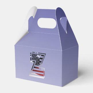 Monogramm-Initiale des Buchstabe-Z patriotische Geschenkschachtel