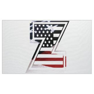 Monogramm-Initiale des Buchstabe-Z patriotische Stoff