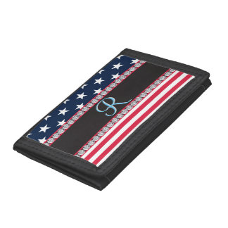 Monogramm-Initiale des USA-US Flagge-Diamant-3d