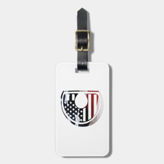 Monogramm-Initiale USA-Flaggen-Muster des Gepäckanhänger