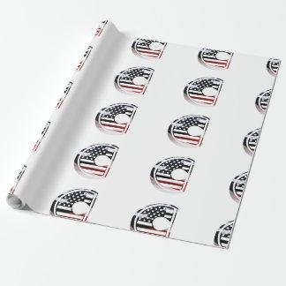 Monogramm-Initiale USA-Flaggen-Muster des Geschenkpapier