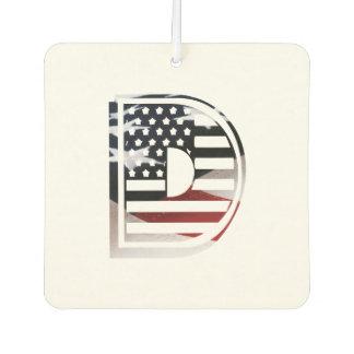 Monogramm-Initiale USA-Flaggen-Muster des Lufterfrischer